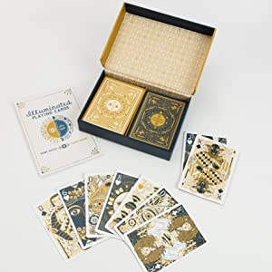 illuminated playing cards;tarot cards;astrology;gifts for teens;tarot reading;playing cards;cards