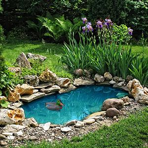 Relaxdays Pato para Estanque, Flotante, Plástico, Impermeable, Adorno de jardín: Amazon.es: Jardín
