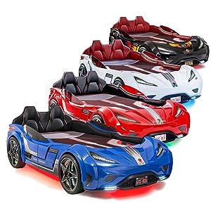 Amazon Com Cilek Gts Twin Size Kids Race Car Bed Frame For Boys
