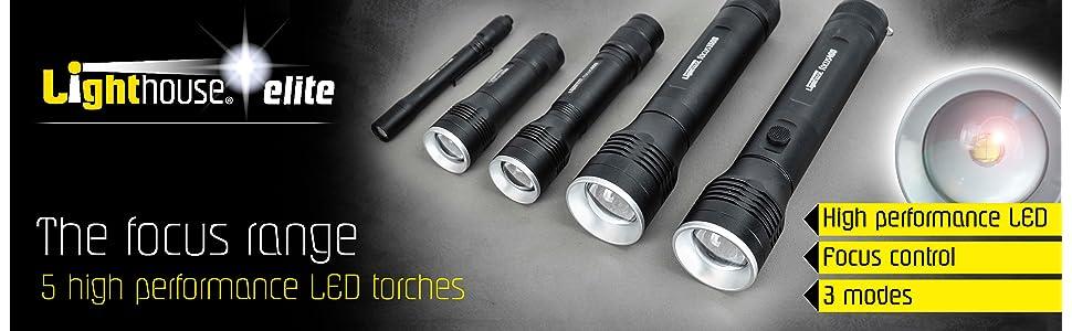 Lighthouse L//HEFOC100 Elite High Performance LED Pen Torch 100 Lumens