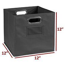 niche, regency, bin, tote, storage, 12 inches, cube storage, cubo, square, grey, 12, measurement