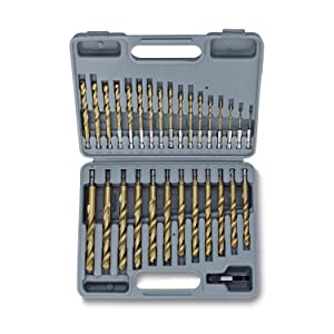 LY1122 Drill Bit Set Complete 9 PCS Metal Masonry Wood Long Lasting Durable Kit Tool