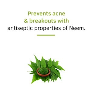 antiseptic face wash, neem, prevents acne