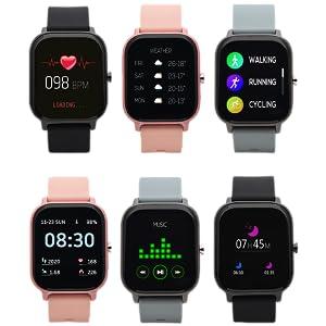 Nordväl SW101B Smartwatch - zwart
