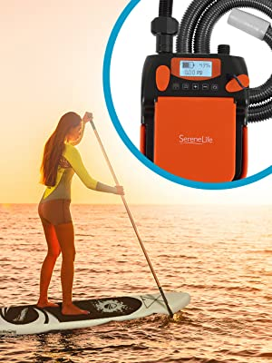 0-20 PSI 110W 12 Volt Quick Air Inflator//Deflator w//LCD for Inflatable SUP Stand Up Paddle Board//Boat Water Sports Inflatables STARTSMART Digital Electric Air Pump Compressor
