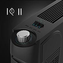 Termostato regulable, potencia, termoventilador