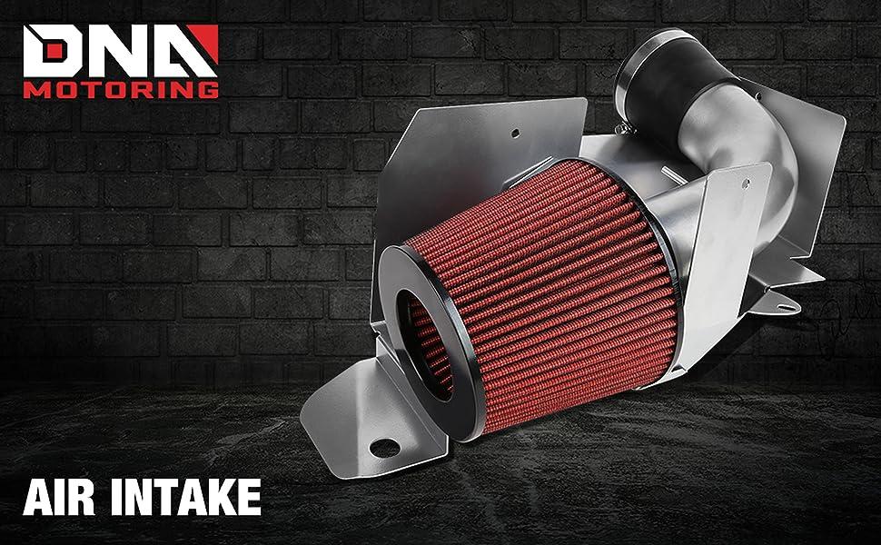 DNAMotoring AIP-2-HS-CAMARO12V6-BKBK Air Intake System and Heat Shield,Black