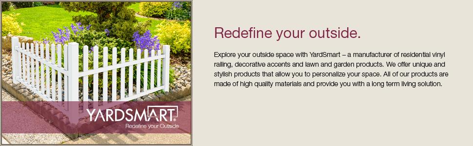 YardSmart® 73024967 4-in-1 Vinyl Fence Kit, White