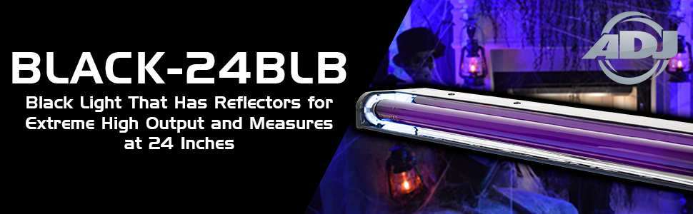 ADJ Black-24BLB Black Light Bundle with DMX Cable and Austin Bazaar Polishing Cloth