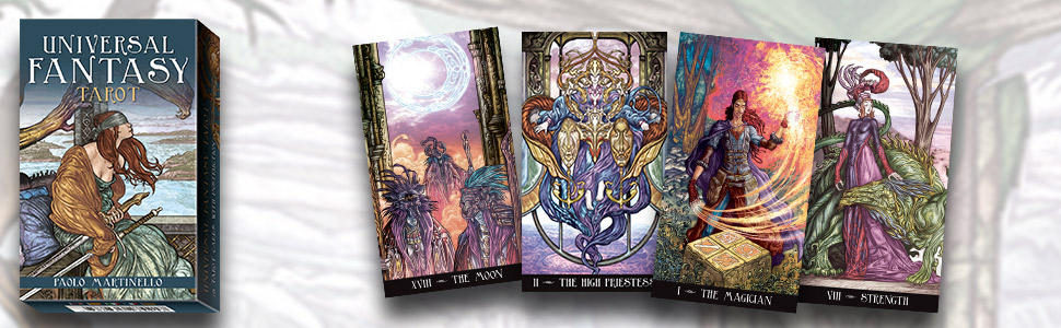 Universal Fantasy Tarot: Lo Scarabeo: 9780738710600: Amazon