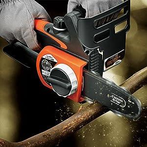 高儀 アースマン チェーンソー 電気 ミニ 130mm コンパクト 軽量 女性 木材 切断 丸太 枝 角材 電動 薪 剪定 小さい