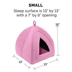 small; dog; cat; pet; bed; tent; cave; dome; lounger