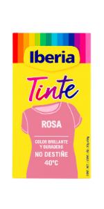 Iberia - Tinte Rojo para ropa, 40°C: Amazon.es: Belleza