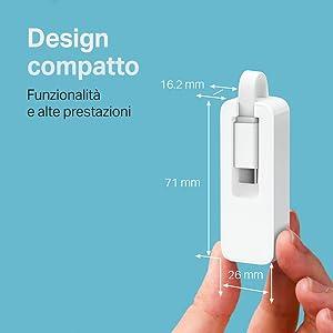 UE300C, TP-Link, adattatore, porta Gigabit, USB C