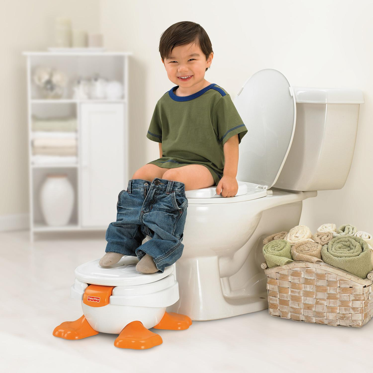 Amazon Com Fisher Price Ducky Fun 3 In 1 Potty Toilet