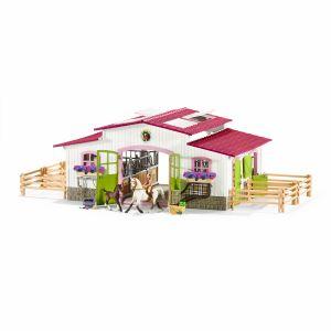 Schleich 42338 gran reitturnier con jinete interior y caballos Horse Club