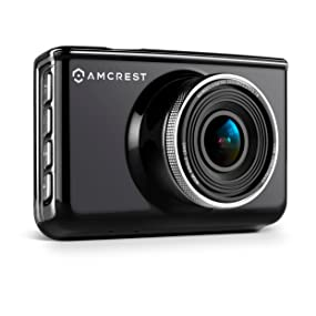 160 Degree Wide Viewing Angle Black Suction Cup Mounting Bracket Car DVR Dashcam with 16GB Micro SD Card Amcrest Full-HD 1080p Dash Camera ACD-830B