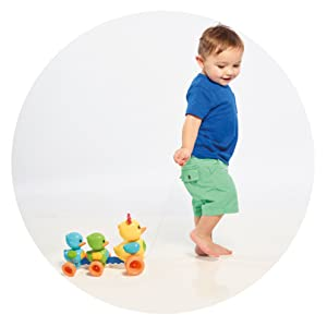 Develops hand-eye coordination and encourages play