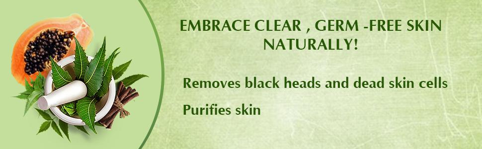 neem papaya scrub, scrub, everyuth, everyuth naturals