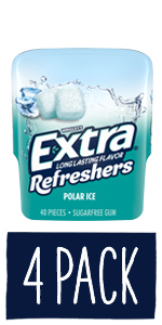 EXTRA Refreshers Polar Ice Chewing Gum