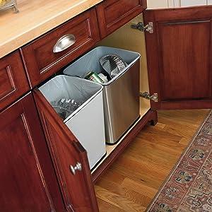 Under Kitchen Counter Waste Can