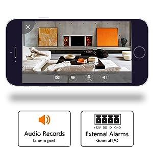 audio recording, external audio recording, wifi hd camera for babysister nanny