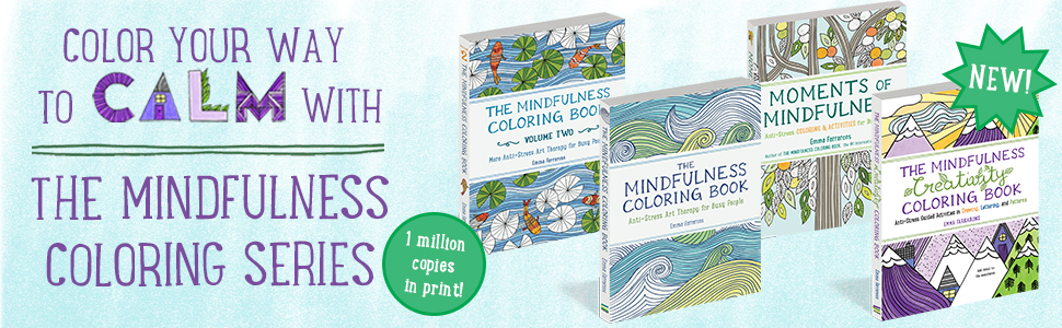 coloring books;mindful coloring books