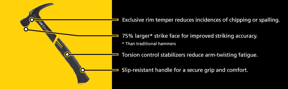 Stanley 51 163 16 Ounce Fatmax Xtreme Antivibe Rip Claw