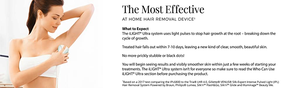 ilight ultra ipl hair removal device reduction permanent effective system