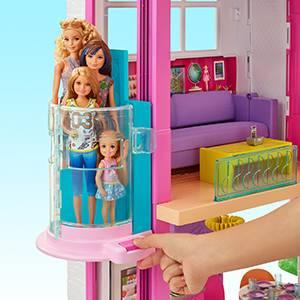 barbie nin uc katli ruya evi ve