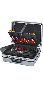 KNIPEX 00 21 15 Werkzeug-Box 7-teilig für die Elektromontage 325 mm