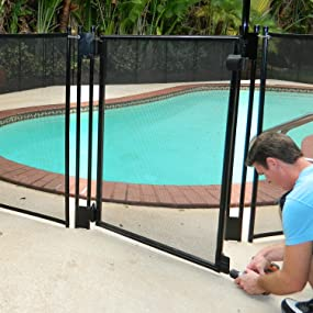 Pool Fence Diy By Life Saver Self Closing Gate Kit Black Garden Outdoor