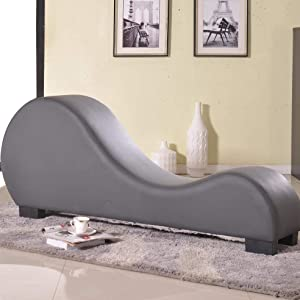 Gray Leather Sex Couch Loveseat Exotic Furniture Sofa Chaise Lounge