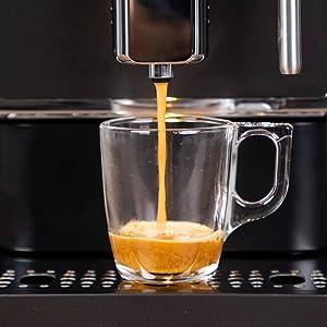 Solac S92011200 CA4810-Cafetera ultra automática, Bomba Italiana 19 Bar, 1470 W, Diseño Compacto 18 cm Ancho, Selector táctil, Acero Inoxidable