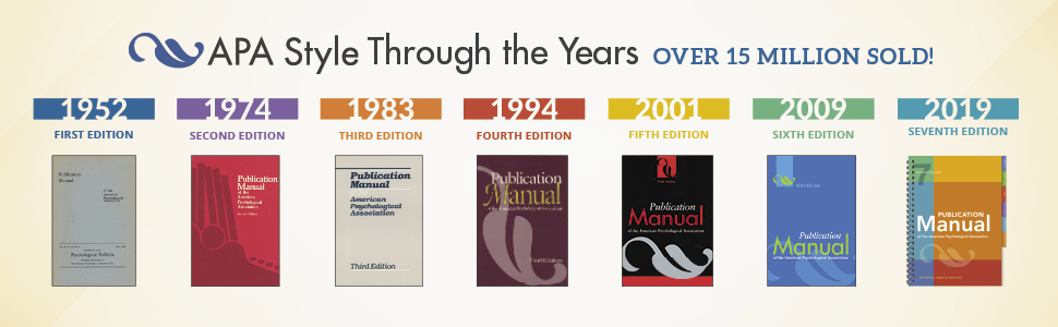 APA Publication Manual style through the years book banner ad