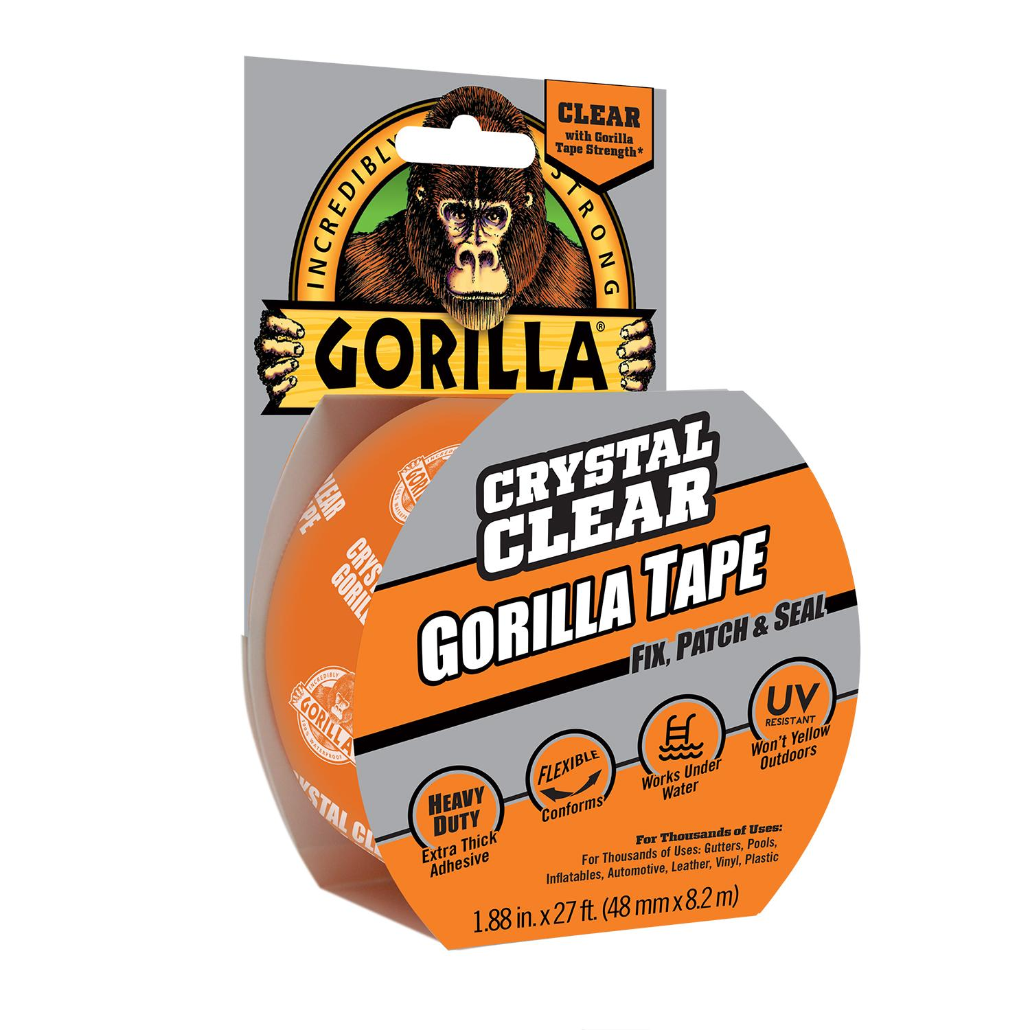 Amazon Com Gorilla Crystal Clear Gorilla Tape 1 88 X