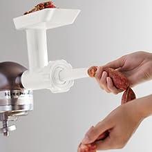 robot patissier, kitchenaid, robot de cuisine, robot multifonction, accessoire optionnel, saucisse