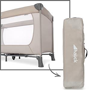 lit adapté de la naissance avec sac de transport et pliage compact