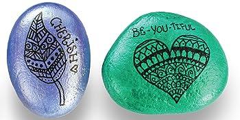 craft supplies, decorating rocks, gel pens, Gelato, Gelatos, hand paint rocks, hand painted rocks