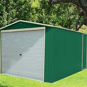 Garaje Metálico Gardiun Essex (Verde) 19, 52 m² Ext: Amazon ...