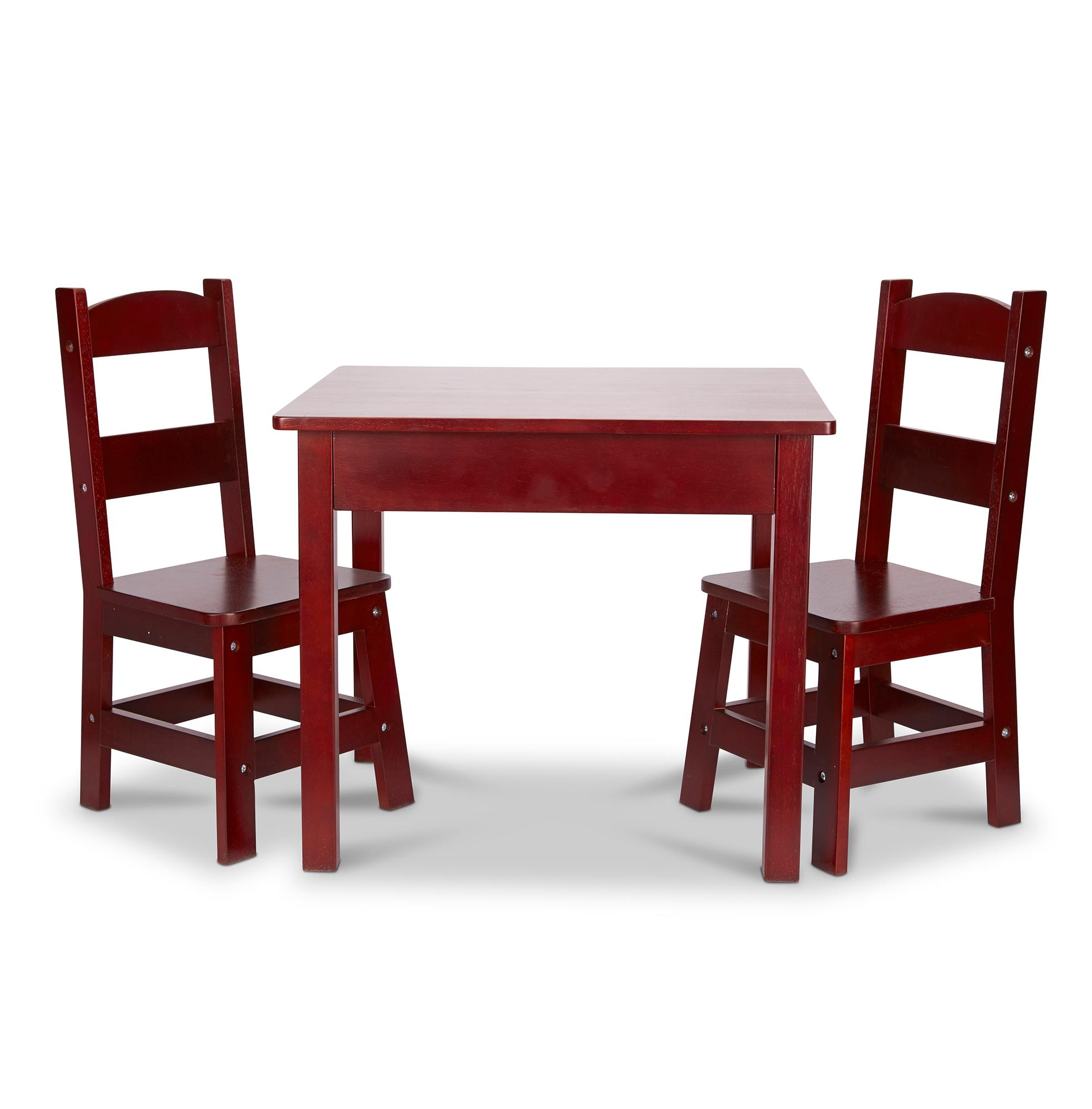 Amazon.com: Melissa & Doug Table & Chair - Painted Espresso ...