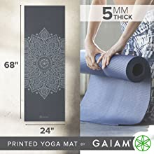 Gaiam Yoga Mat - 5mm Thick