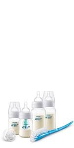 Philips Avent SCD305//01 Kit nouveau-n/é en verre 2 biberons 240 ml 1 doseur de lait en poudre 2 sucettes 3 biberons 125 ml