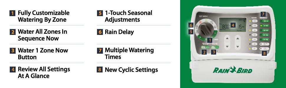 Rain Bird SST400IN Irrigation Timer Indoor 4-Station Rain Bird Sst I Wiring Diagram on