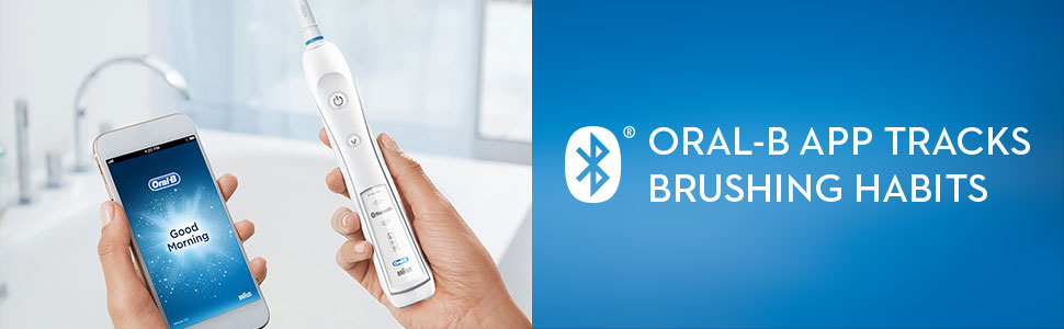 Oral-B app tracks brushing habits.