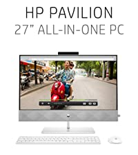 """hp pavilion, 27"""", all-in-one, pc, touchscreen"""