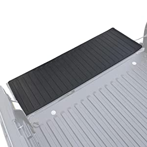 60 x 19.5 Extra Thick Rubber Cargo Liner for Pickup Trucks with Universal Trim-to-Fit Design BDK MT-600A Black Heavy-Duty Utility Bed Tailgate Mat