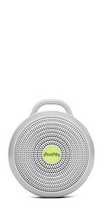 yogasleep hushh portable travel baby white noise night light fan sound