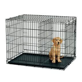 Midwest Icrate Double Door Crate With Divider For Pets 42