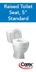 Amazon Com Carex 3 5 Inch Raised Toilet Seat With Arms